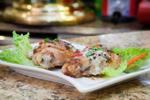 1132 Baked Chicken with Spicy Coconut Sauce
